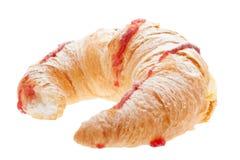 Croissant con la crema del biancomangiare immagini stock libere da diritti