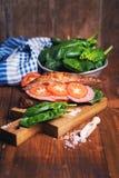 Croissant con la salsiccia Immagini Stock Libere da Diritti