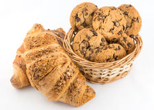 Croissant and cookies Royalty Free Stock Photos