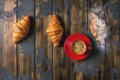 Croissant cozido fresco fotografia de stock