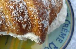 Croissant cremoso Fotografia de Stock Royalty Free
