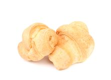 Croissant or crescent roll. Cose up. Royalty Free Stock Photos