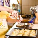 Croissant crudo Foto de archivo libre de regalías