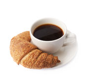 Croissant and cup of coffee Stock Image