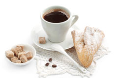 Croissant and cup of coffee Stock Photography