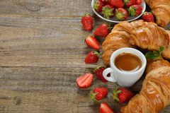 Croissant and a cup of espresso Royalty Free Stock Image