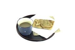 Croissant de haricot rouge avec du café photo libre de droits