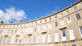 Croissant de Lansdown à Bath Angleterre Images libres de droits