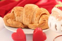 Croissant, Deens gebakje Stock Afbeelding