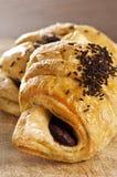 Croissant del cioccolato Fotografie Stock