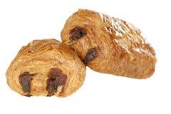 Croissant del cioccolato su bianco Immagini Stock Libere da Diritti