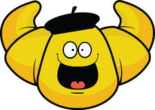 Croissant del fumetto felice Immagine Stock Libera da Diritti