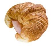 Croissant del jamón y del queso Fotografía de archivo libre de regalías