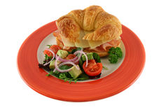 Croissant del queso y del jamón   foto de archivo libre de regalías