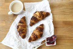 Croissant delicioso Fotografía de archivo