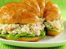 Croissant dell'insalata di pollo immagine stock libera da diritti