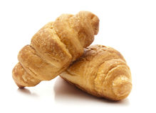 Croissant della prima colazione Fotografia Stock