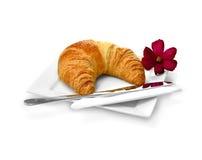 Croissant 2 della prima colazione immagini stock