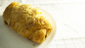 Croissant on dish Royalty Free Stock Images