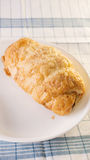 Croissant on dish Royalty Free Stock Photos