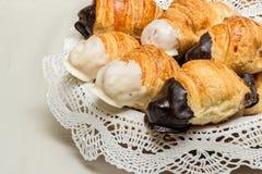 Croissant do chocolate Imagem de Stock