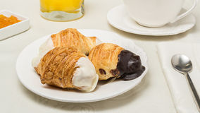 Croissant do chocolate foto de stock royalty free