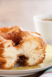 Croissant and doughnut mixture on a dish close-up Royalty Free Stock Image