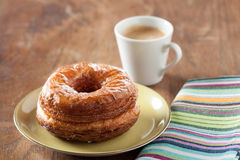 Croissant and doughnut mixture on a dish Royalty Free Stock Photography