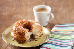 Croissant and doughnut mixture on a dish Royalty Free Stock Photos