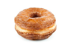 Croissant and doughnut mixture isolated on white Royalty Free Stock Photography