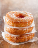 Croissant and doughnut mixture pile Stock Photography