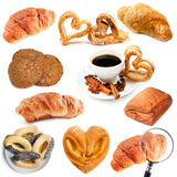 Croissant e biscotti Fotografia Stock