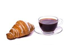 Croissant e caffè Immagine Stock