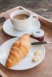 Croissant e caffè Immagini Stock Libere da Diritti