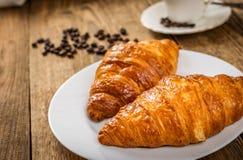 Croissant e caffè immagini stock