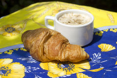 Croissant e cofee Fotografia Stock