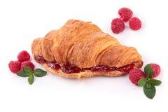Croissant e lamponi fotografia stock libera da diritti
