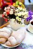 Croissant en coffe Stock Foto
