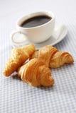 Croissant en Koffie Royalty-vrije Stock Afbeelding