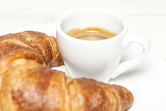 Croissant and espresso Stock Photography