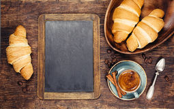 Croissant and Espresso Royalty Free Stock Image