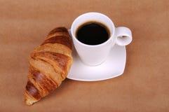 Croissant et café Images libres de droits