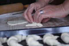 Croissant fait maison Photographie stock libre de droits