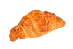 Croissant filled with ham and cheese Stock Images