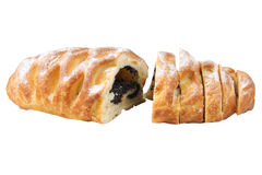 Croissant from flaky pastry with  poppy. Stock Photography