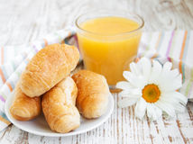 croissant Frais-cuit au four Photographie stock libre de droits