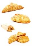 Croissant francês para o pequeno almoço imagens de stock