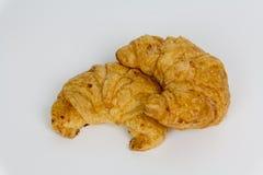 Croissant freschi isolati su fondo bianco Fotografia Stock Libera da Diritti