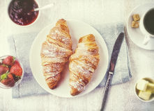 Croissant fresco fotografia stock libera da diritti