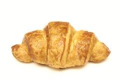 Croissant fresco em um fundo branco Padaria fresca Grande café da manhã imagem de stock